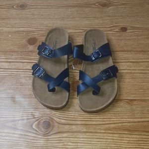 Seranoma Cork Flat Bed Sandals Size 8